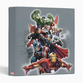 Avengers Attack Graphic Vinyl Binder