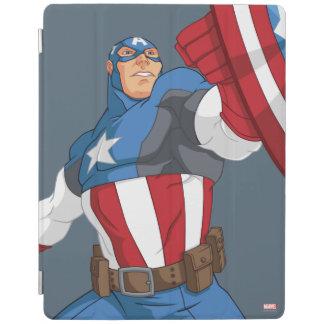 Avengers Cartoon Captain America Character Pose iPad Cover