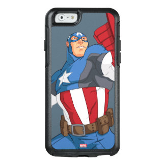 Avengers Cartoon Captain America Character Pose OtterBox iPhone 6/6s Case