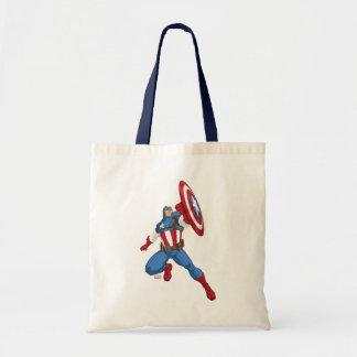 Avengers Cartoon Captain America Character Pose Tote Bag