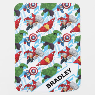 Avengers Character Action Kids Pattern Baby Blanket