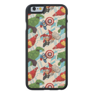 Avengers Character Action Kids Pattern Carved® Maple iPhone 6 Slim Case