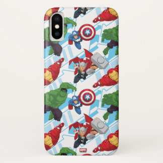 Avengers Character Action Kids Pattern iPhone X Case
