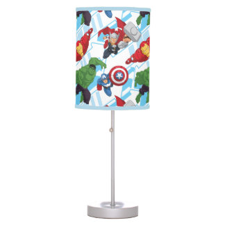 Avengers Character Action Kids Pattern Table Lamp