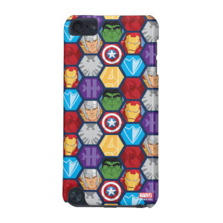 Avengers Character Faces & Logos Badge iPod Touch 5G Covers