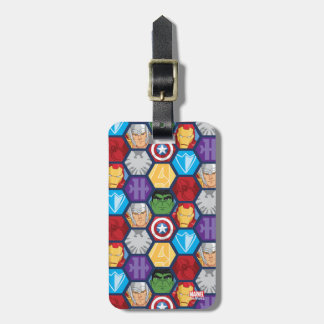 Avengers Character Faces & Logos Badge Luggage Tag
