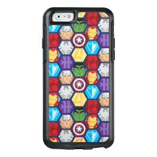 Avengers Character Faces & Logos Badge OtterBox iPhone 6/6s Case