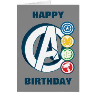 Avengers Character Logos Card