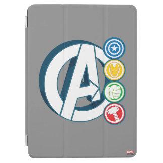 Avengers Character Logos iPad Air Cover