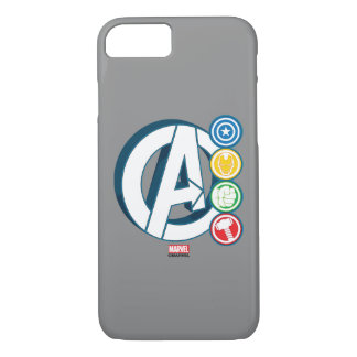 Avengers Character Logos iPhone 7 Case