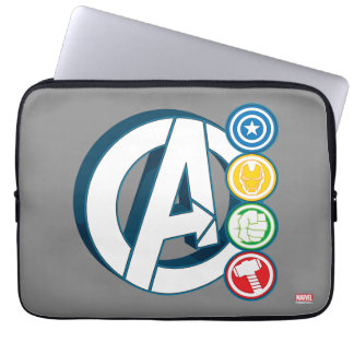 Avengers Character Logos Laptop Sleeve
