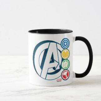 Avengers Character Logos Mug