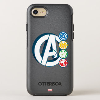 Avengers Character Logos OtterBox Symmetry iPhone 7 Case