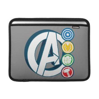 Avengers Character Logos Sleeves For MacBook Air