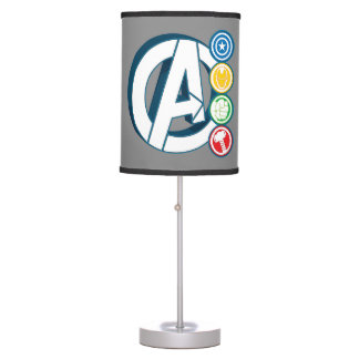 Avengers Character Logos Table Lamp