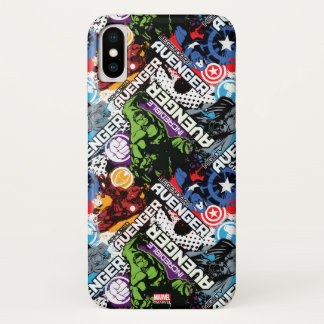 Avengers Character Pattern iPhone X Case