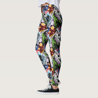 Avengers Character Pattern Leggings
