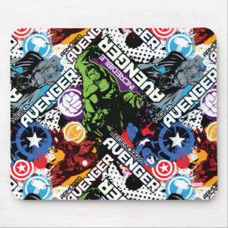 Avengers Character Pattern Mouse Pad