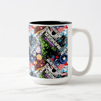 Avengers Character Pattern Two-Tone Coffee Mug