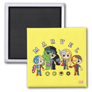 Avengers Classics   Dual Identity Square Magnet