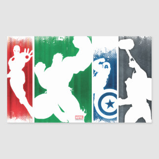 Avengers Classics   Paint Swatch Silhouettes Sticker