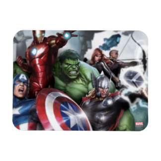 Avengers Classics | Poised For Battle Drawing Rectangular Photo Magnet