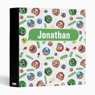 Avengers Emoji Characters Text Pattern 3 Ring Binder