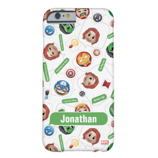 Avengers Emoji Characters Text Pattern Barely There iPhone 6 Case