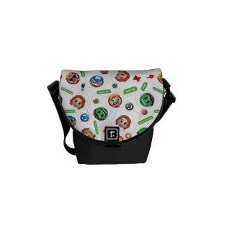 Avengers Emoji Characters Text Pattern Courier Bag