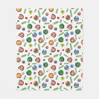 Avengers Emoji Characters Text Pattern Fleece Blanket