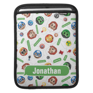 Avengers Emoji Characters Text Pattern iPad Sleeve