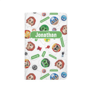 Avengers Emoji Characters Text Pattern Journal