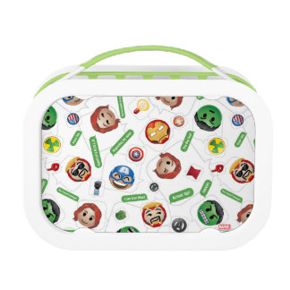 Avengers Emoji Characters Text Pattern Lunchboxes
