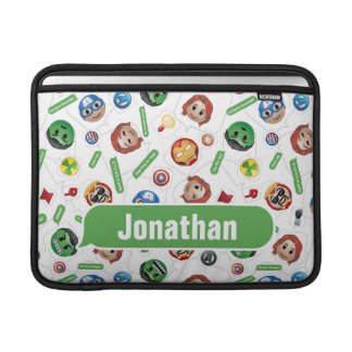 Avengers Emoji Characters Text Pattern MacBook Sleeve