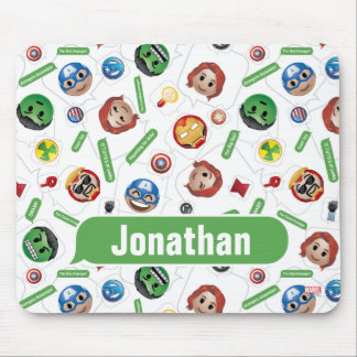 Avengers Emoji Characters Text Pattern Mouse Pad