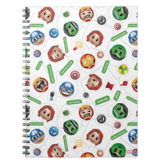 Avengers Emoji Characters Text Pattern Notebook