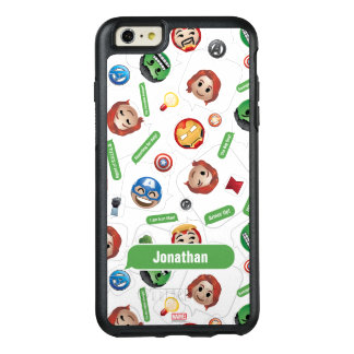 Avengers Emoji Characters Text Pattern OtterBox iPhone 6/6s Plus Case