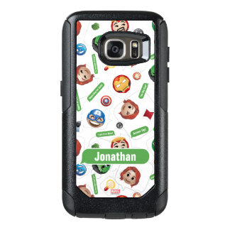 Avengers Emoji Characters Text Pattern OtterBox Samsung Galaxy S7 Case