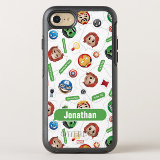Avengers Emoji Characters Text Pattern OtterBox Symmetry iPhone 8/7 Case