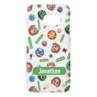 Avengers Emoji Characters Text Pattern Samsung Galaxy S7 Case