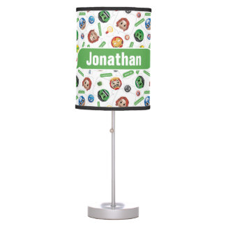 Avengers Emoji Characters Text Pattern Table Lamp