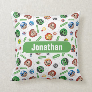 Avengers Emoji Characters Text Pattern Throw Pillow
