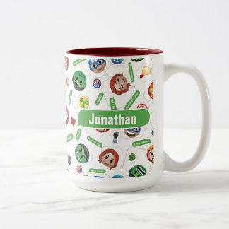 Avengers Emoji Characters Text Pattern Two-Tone Coffee Mug