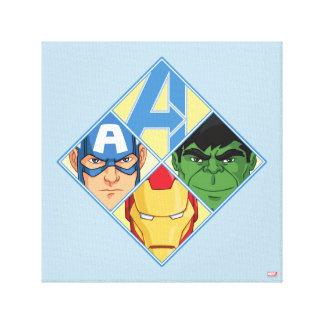 Avengers Face Badge Canvas Print