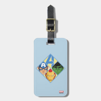 Avengers Face Badge Luggage Tag
