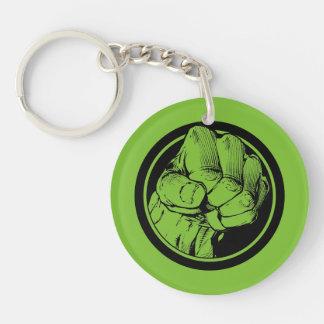 Avengers Hulk Fist Logo Double-Sided Round Acrylic Keychain