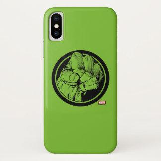 Avengers Hulk Fist Logo iPhone X Case