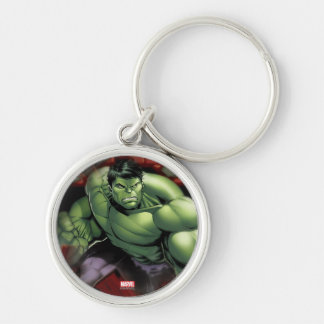 Avengers Hulk Smashing Through Bricks Keychain