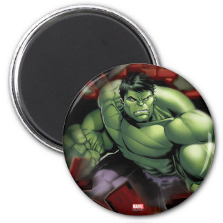 Avengers Hulk Smashing Through Bricks Magnet