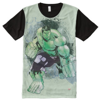 Avengers Hulk Watercolor Graphic All-Over-Print T-Shirt